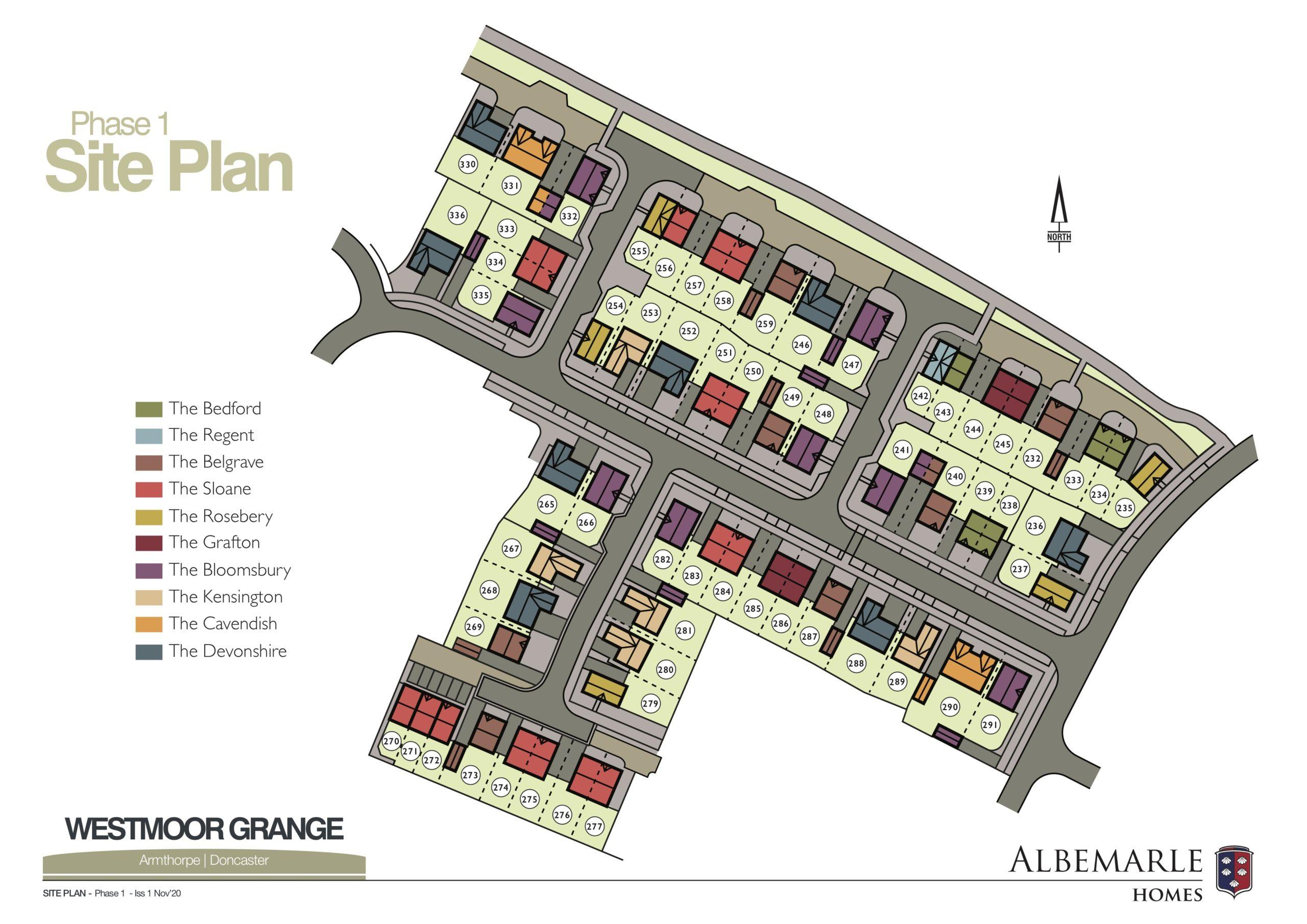Westmoor Grange Site Plan